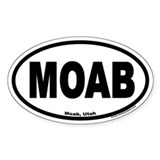 MOAB Euro Oval  Aufkleber