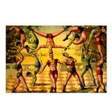 Circus Acrobats Postcards (Package of 8)