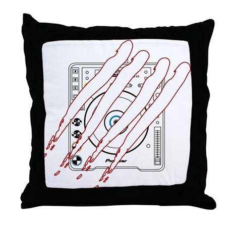 Scratched CDJ-1000 Throw Pillow