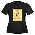 Eliot Ness Women's Plus Size V-Neck Dark T-Shirt