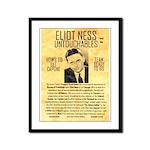 Eliot Ness Framed Panel Print