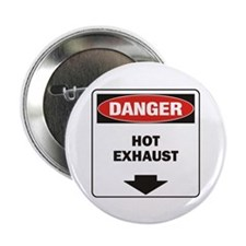 "Danger Exhaust 2.25"" Button (10 pack)"