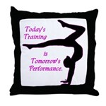 Gymnastics Throw Pillow - Training
