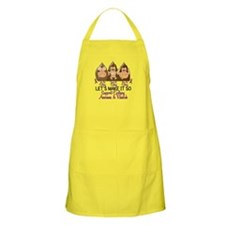 See Speak Hear No Epilepsy 2 BBQ Apron