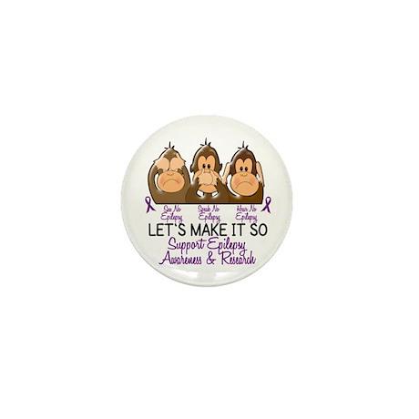 See Speak Hear No Epilepsy 2 Mini Button