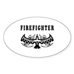 Firefighter Tattoos Oval Sticker (10 pk)