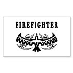 Firefighter Tattoos Rectangle Sticker