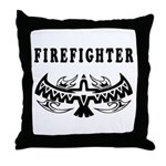 Firefighter Tattoos Throw Pillow