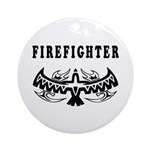 Firefighter Tattoos Ornament (Round)