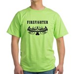 Firefighter Tattoos Green T-Shirt
