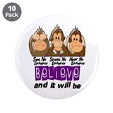 See Speak Hear No Epilepsy 3 3.5&quot; Button (10 pack)