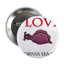 "I Love California Sea Hares 2.25"" Button (10 pack)"