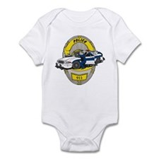 BADGE AND COP CAR Infant Bodysuit