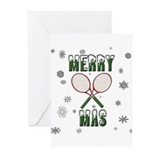 Tennis Merry Christmas Greeting Cards (Pk of 10)