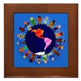 Peaceful Children around the World Framed Tile