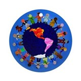 Peaceful Children around the World Round Ornament