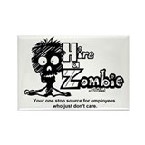 Funny Hire a Zombie Zombie Labor Rectangle Magnet