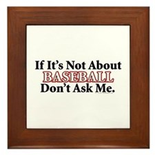 Baseball Framed Tile