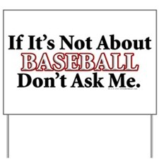 Baseball Yard Sign