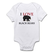 I Love Black Bears Infant Bodysuit