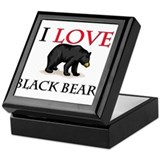I Love Black Bears Keepsake Box