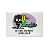 Funny Zombie Job Hire Rectangle Magnet