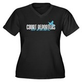 Court Reporters Do It Better! Women's Plus Size V-