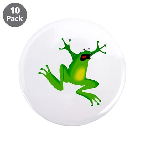 "Feeling Froggy 3.5"" Button (10 pack)"