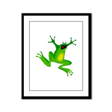 Feeling Froggy Framed Panel Print