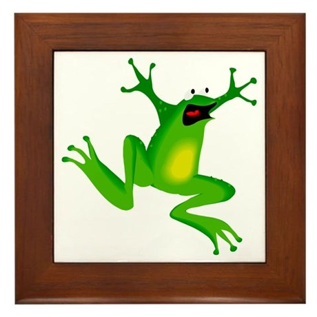 Feeling Froggy Framed Tile