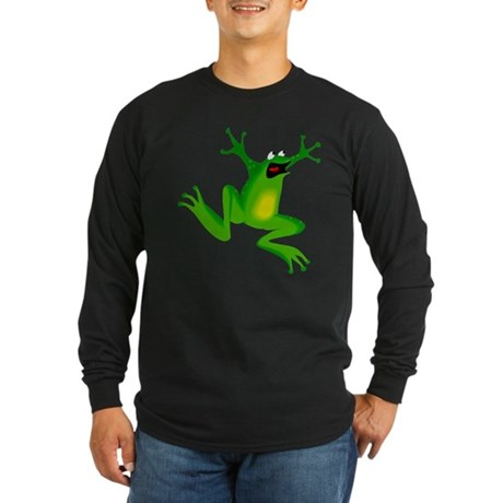 Feeling Froggy Long Sleeve Dark T-Shirt