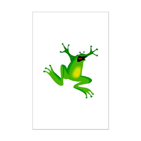 Feeling Froggy Mini Poster Print