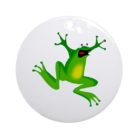 Feeling Froggy Ornament (Round)