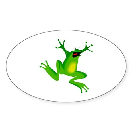 Feeling Froggy Oval Sticker