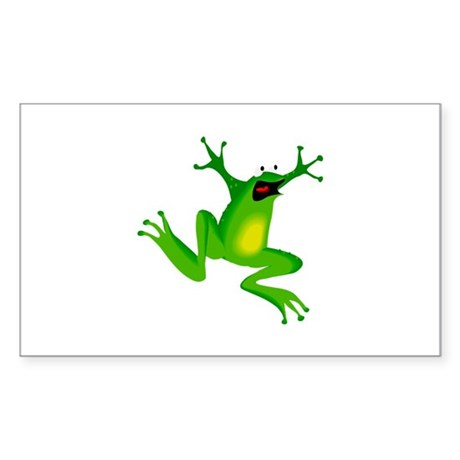 Feeling Froggy Rectangle Sticker