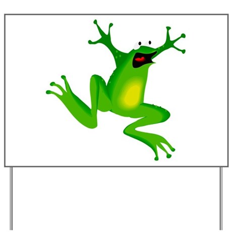 Feeling Froggy Yard Sign