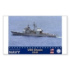 USS Chosin CG-65 Rectangle Decal