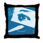 Chain Eye Blue Throw Pillow