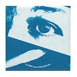 Chain Eye Blue Tile Coaster