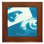 Positive-Negative Blue Framed Tile