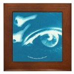Eye Key Blue Framed Tile