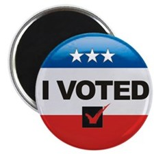 I Voted Button Magnet