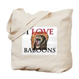 I Love Baboons Tote Bag