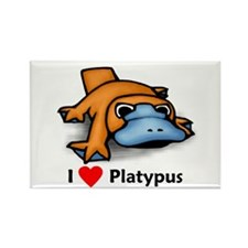I Love Platypus Rectangle Magnet (10 pack)