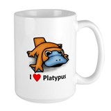 I Love Platypus Coffee Mug