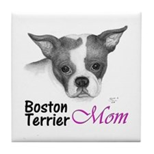 Boston Mom - Tile Coaster