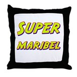 Super maribel Throw Pillow