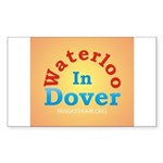 Waterloo In Dover Rectangle Sticker