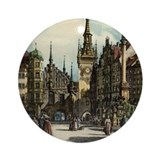 Old Munich Cityscape Ornament (Round)