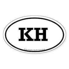 Kitty Hawk, NC Oval Sticker (10pk)